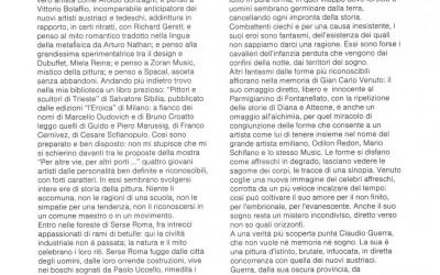 per altre vie per altri porti - testo introduttivo di Vittorio Sgarbi