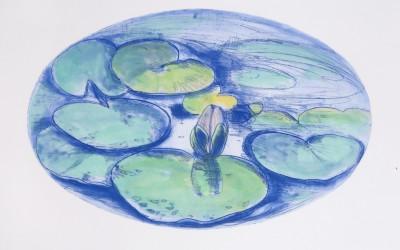 I giardini dell'anima - cm 50 x 70 - acquaforte, acquatinta, cera molle acquerellata a mano, 1994