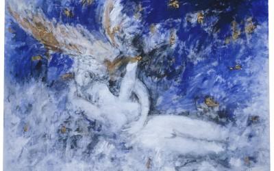 Amore e psiche - 150 x 210 - tecnica mista su tela - 1984