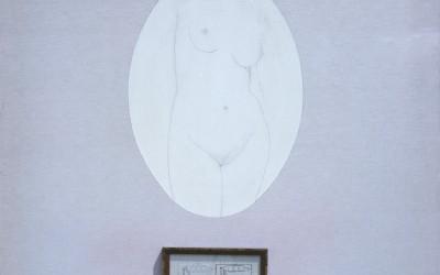 La sposa messa a nudo... - cm 150 x 150 - tecnica mista su tela - 1980