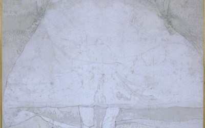 Manicomio - cm 145 x 145 - tecnica mista su tela - 1975