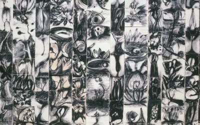 Die Zauberflöte - bande da cm 210/280 x 18/25 - tecnica mista, carta su tavola - 1987