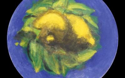 Frutti italiani - Ø cm 150 - tecnica mista su tavola - 1985