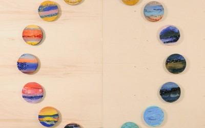 Costellazione - cm Ø 30, 35, 45 - Affresco, mosaico, encausto - 2007/2008