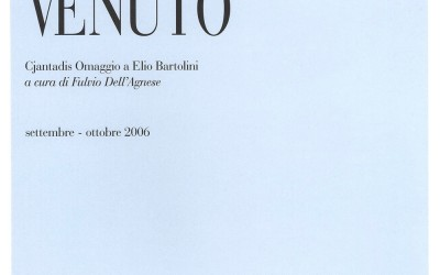 Cjantadis Omaggio a Elio Bartolini Colussa Galleria d'Arte