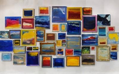 Quadreria - assieme m 5 x 10 - tecniche miste su tela e su tavola - 2009