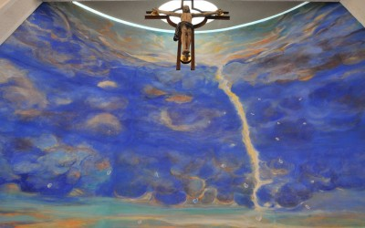 Eden - cm 550 x 750 - affresco - Chiesa della Marigolda, Curno (Bg) - 2010
