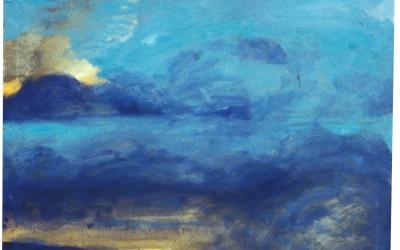 I cieli sopra Berlino - cm 100 x 100 - tecnica mista su tela - 1997