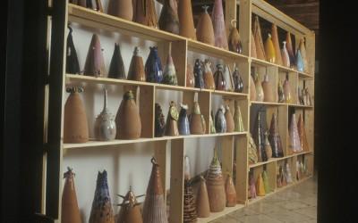 L'albero della luna - vasi lampade di ceramica - 1992