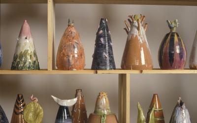 L'albero della luna - h cm 35/50/70 - vasi lampade di ceramica - 1992