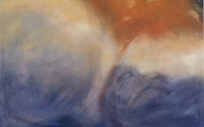 Nuvola fulva - cm 100 x 120 - tecnica mista su tela - 2001