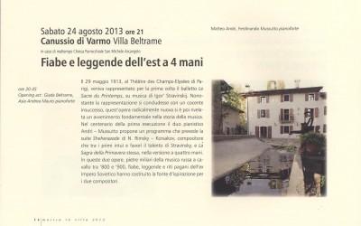 musica in villa 2013